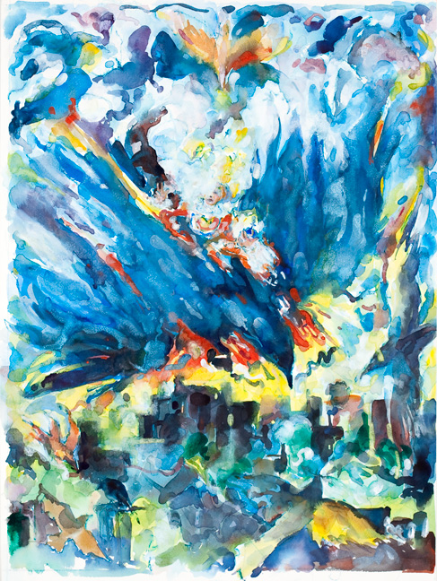 Painting for Arc of a Bird, 27 x 19in.